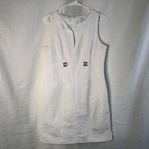 Dressbarn 8 Dress White Sheath Sleeveless 737